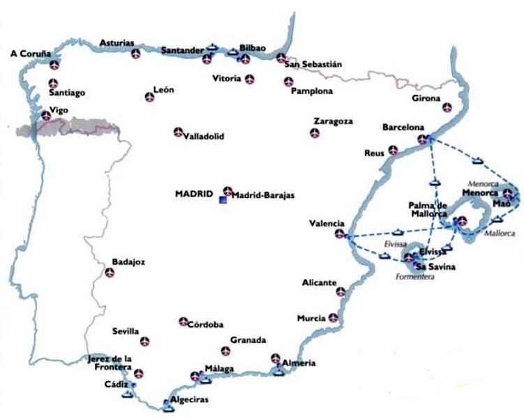 Mappa di vitoria mappa di vigo mappa di zamora