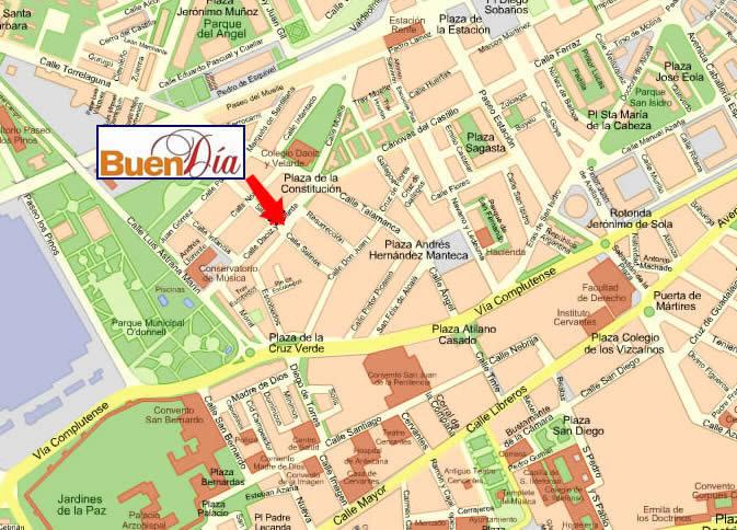 Mappa alcal de henares cartina di alcal de henares in for Calderas alcala de henares