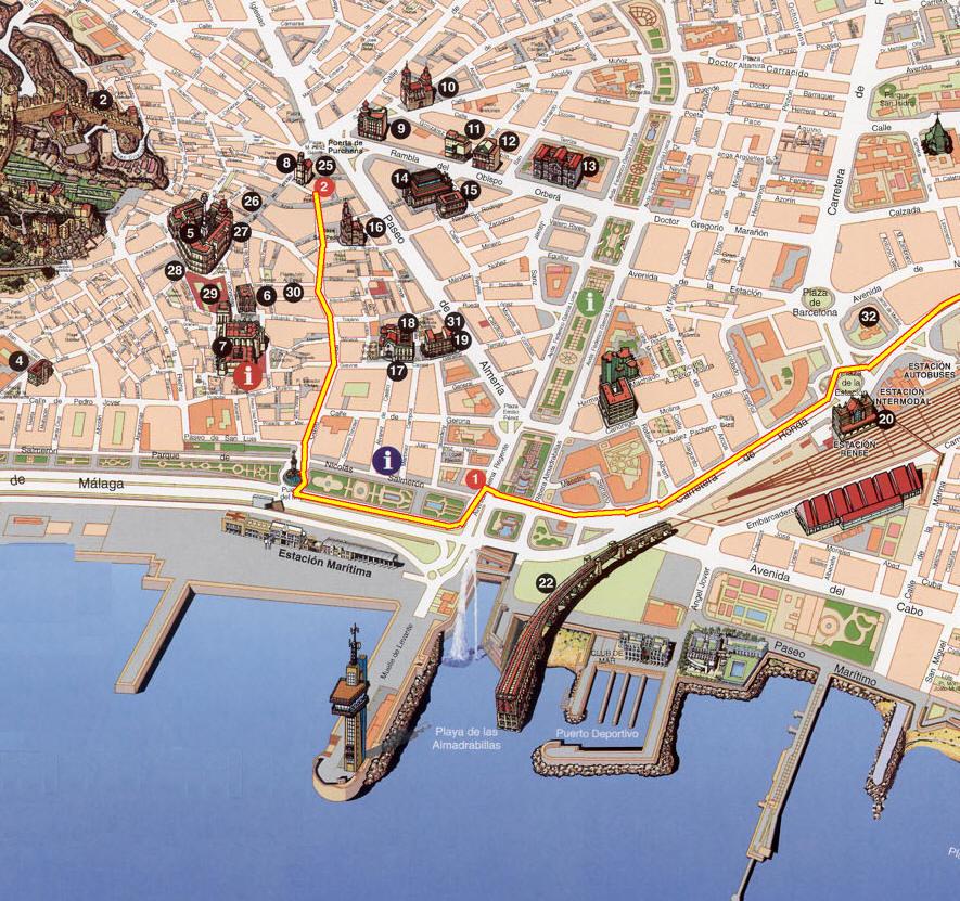 Cartina Huelva Spagna.Mappa Almeria Cartina Di Almeria In Spagna