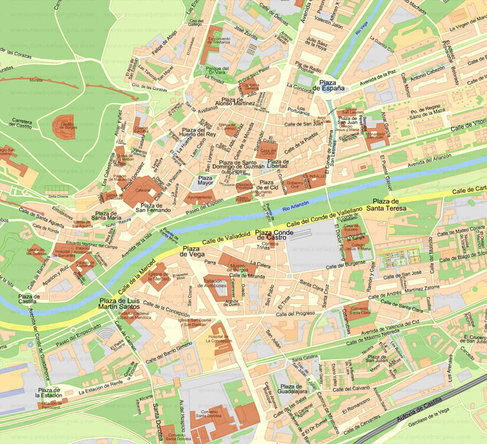 Burgos Carte Ville