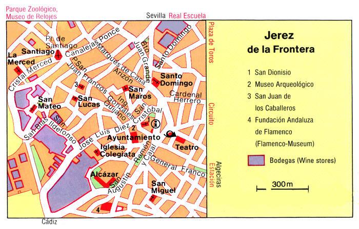 Cartina Jerez De La Frontera.Mappa Jerez De La Frontera Cartina Di Jerez De La Frontera In Spagna