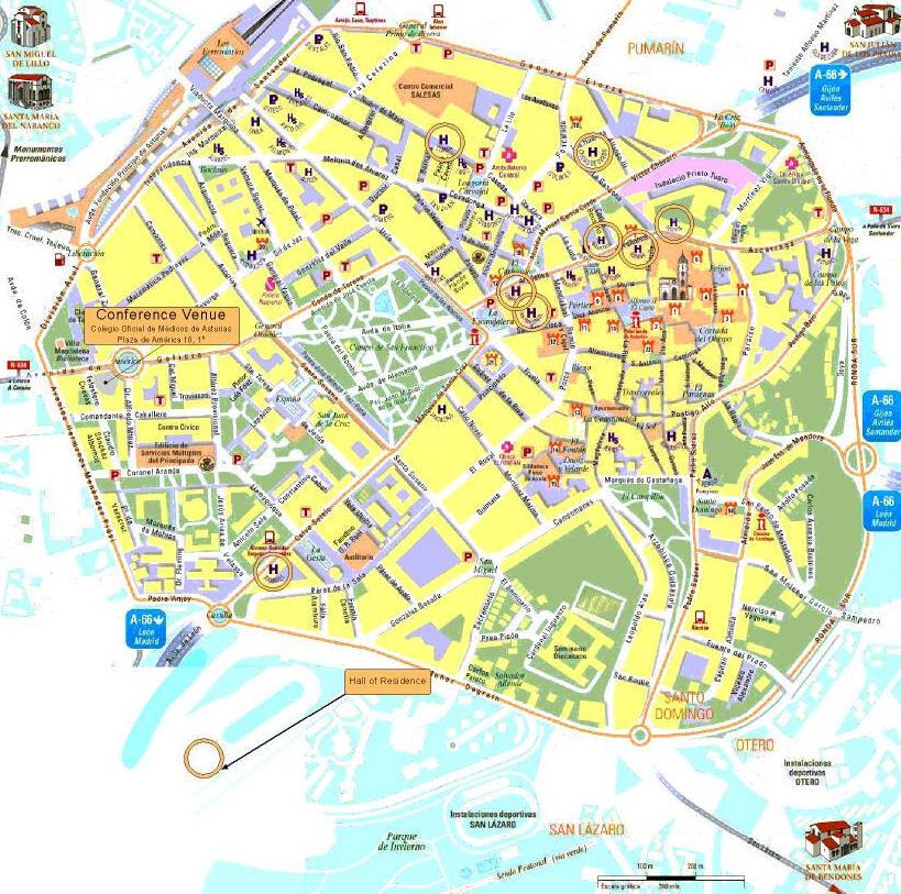 Mappa Spagna Oviedo.Mappa Oviedo Cartina Di Oviedo In Spagna