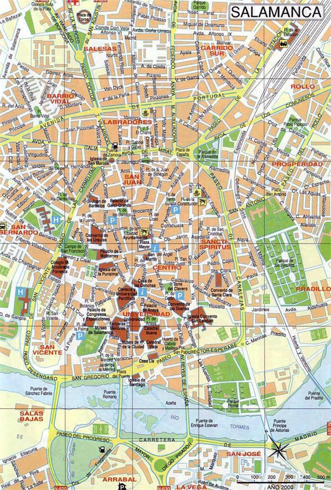 Salamanca Cartina.Mappa Salamanca Cartina Di Salamanca In Spagna