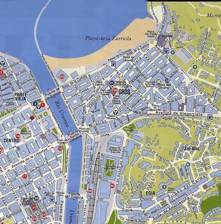 San Sebastian Spagna Cartina.Mappa San Sebastian Cartina Di San Sebastian In Spagna
