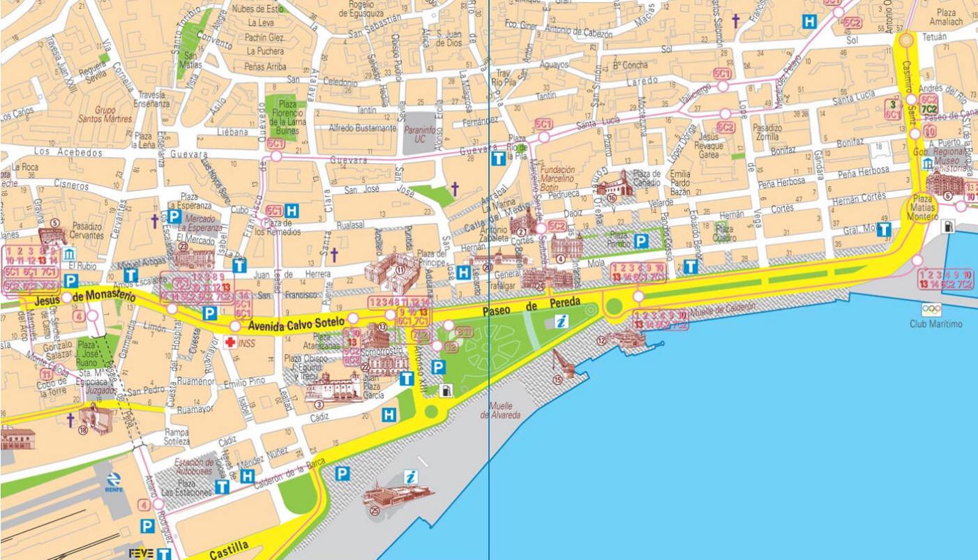 Cartina Santander Spagna.Mappa Santander Cartina Di Santander In Spagna