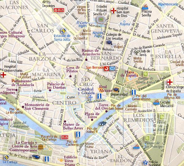 Siviglia Cartina.Mappa Siviglia Cartina Di Siviglia